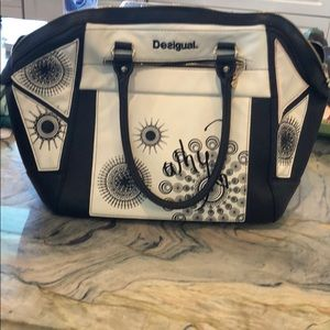 Desigual black and cream bag.